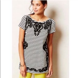 ANTHRO POSTAGE STAMP- Embroidered Stripe Dress